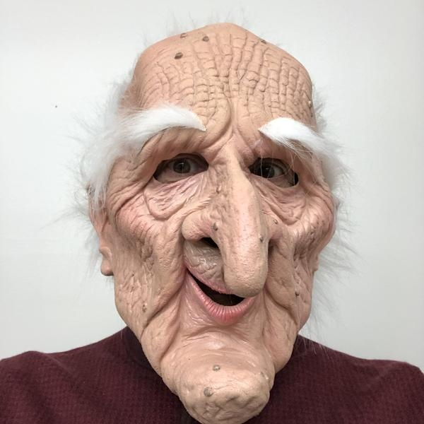Collectors Edition Stale Mate old Man Mask Lifelike Halloween Mask