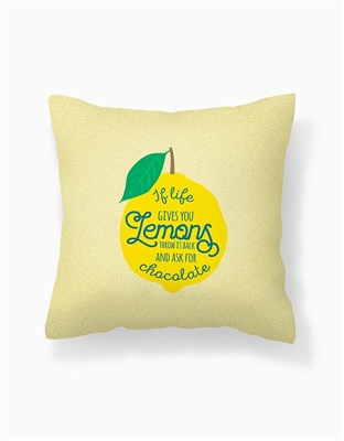 Lemon Throw Pillow Cover