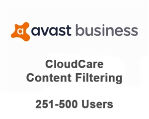 Avast Business CloudCare Content Filtering 1 Month Users (251-500)