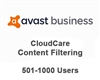 Avast Business CloudCare Content Filtering 3 Year Users (501-1000)