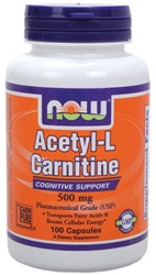 NOW Foods Acetyl-L-Carnitine 500mg