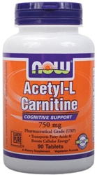 NOW Foods Acetyl-L-Carnitine 750mg