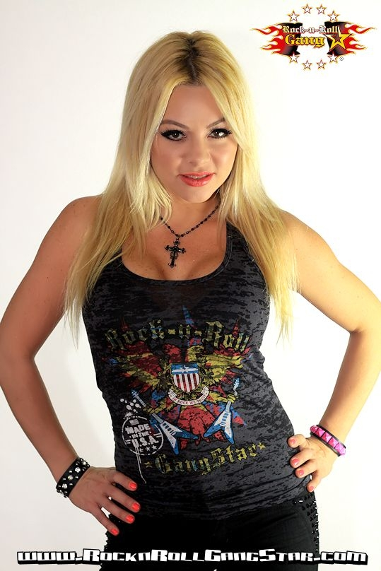 American Gothic Burnout Tank Top Rock And Roll Heavy Metal
