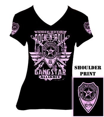 Rock-n-Roll GangStar Alliance V2 Girls Jr. T-shirt