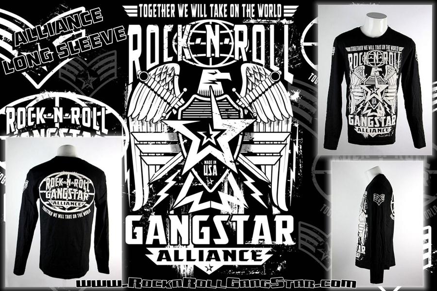Rock N Roll Gangstar Alliance Mens Long Sleeve T Shirt