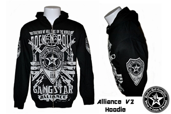 Alliance V2 zip hoodie jacket sweatshirt Heavy Metal Rock and Roll Clothing