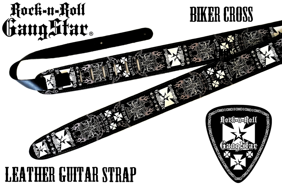 Rock Heavy Metal Leather Guitar Strap