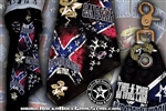 Custom Belt Loop Flair Dont Tread On Rock & Roll  Bandana Rock n Roll Heavy Metal biker clothing accessories Rock n Roll GangStar