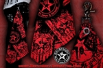 Wear It Loud & Proud! Custom Belt Loop Flair Bandana Red on Black Rock and Roll Heavy Metal Biker accessories lifestyle Rock n Roll GangStar