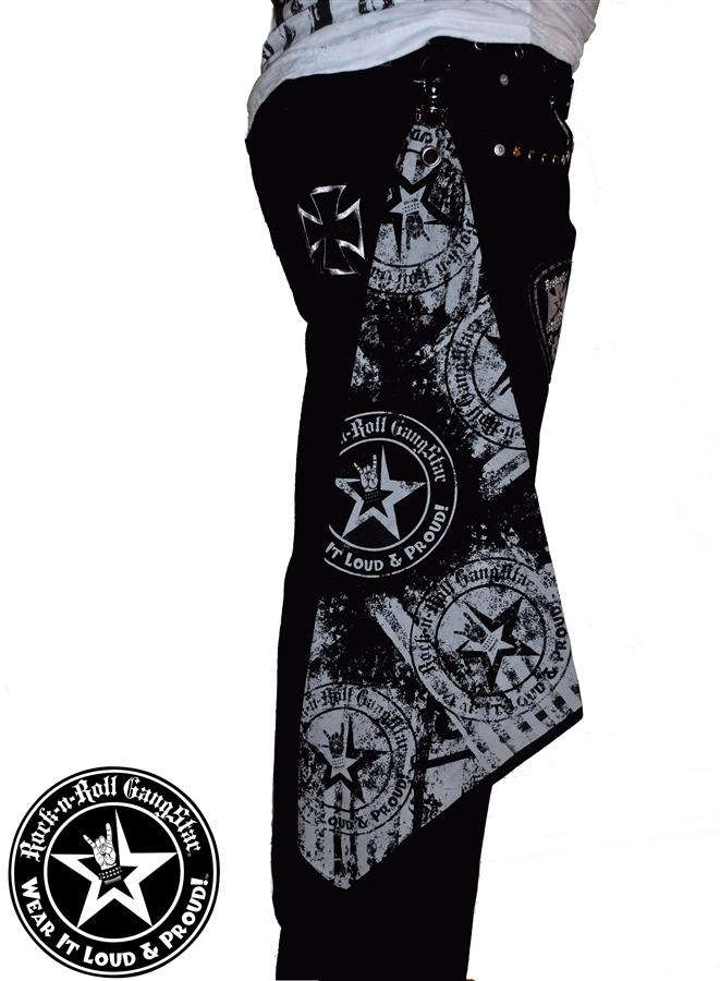 Wear It Loud & Proud! Custom Belt Loop Flair Bandana Gray on Black Rock and  Roll Heavy Metal Biker accessories lifestyle Rock n Roll GangStar