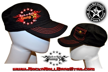 Military Style Cap Hat with Stash Pocket Rock n Roll Heavy Metal clothing accessories