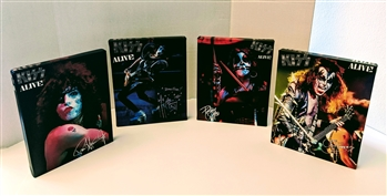 KISS ALIVE! Set of 4 PAUL STANLEY GENE SIMMONS ACE FREHLEY PETER CRISS 8x10 canvas print wall art Rock n Roll collectible