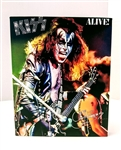 KISS ALIVE! GENE SIMMONS 8x10 canvas print wall art Rock n Roll collectible