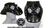 Custom Shapeable Cowboy Hat black version 1 Rock and Roll Heavy Metal hats accessories