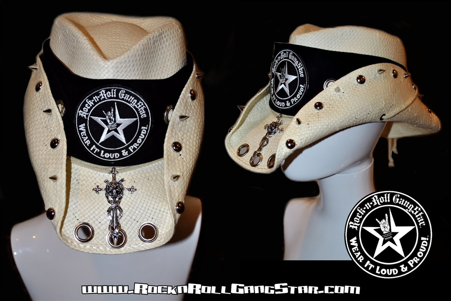 db6f41d182a35 Custom Shapeable Cowboy Hat white version 2 Rock and Roll Heavy ...
