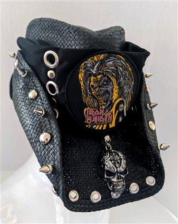 IRON MAIDEN Tribute Custom Shapeable Cowboy Hat black Rock and Roll Heavy Metal hats accessories