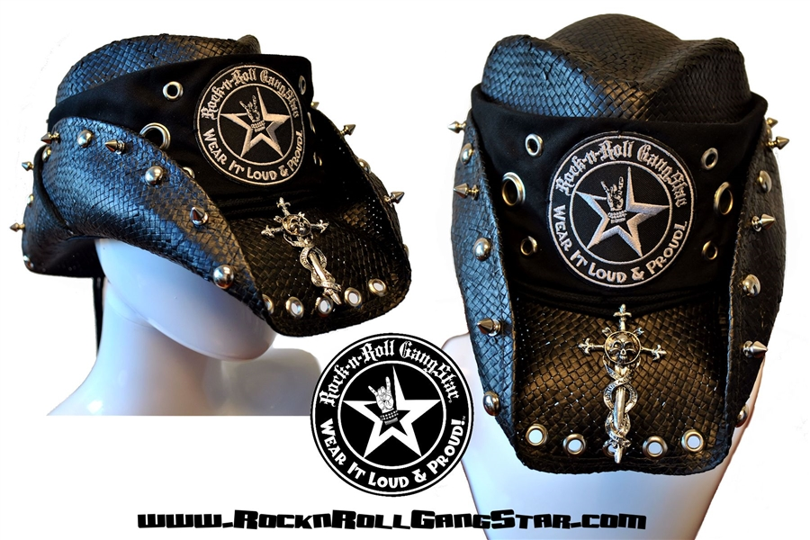 ee9d1cffc87 Custom Shapeable Cowboy Hat black version 3 Rock and Roll Heavy Metal hats  accessories