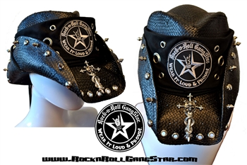 Custom Shapeable Cowboy Hat black version 3 Rock and Roll Heavy Metal hats accessories