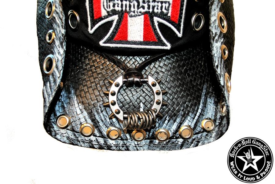 4ac2b69926975 Custom Shapeable Cowboy Hat black version 6 Rock and Roll Heavy Metal hats  accessories biker iron cross