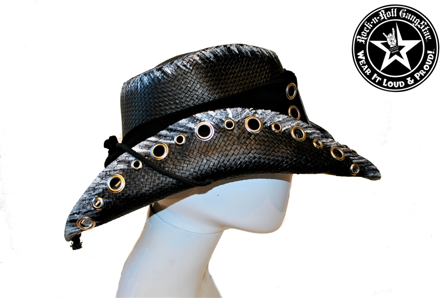 Custom Shapeable Cowboy Hat Black Version 6 Rock And Roll