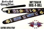 Dont Tread On Rock n Roll Leather Guitar Strap rock n roll heavy metal guitar accessories
