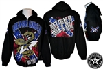 Don't Tread On Rock n Roll zip hoodie jacket sweatshirt Heavy Metal Rock and Roll Clothing