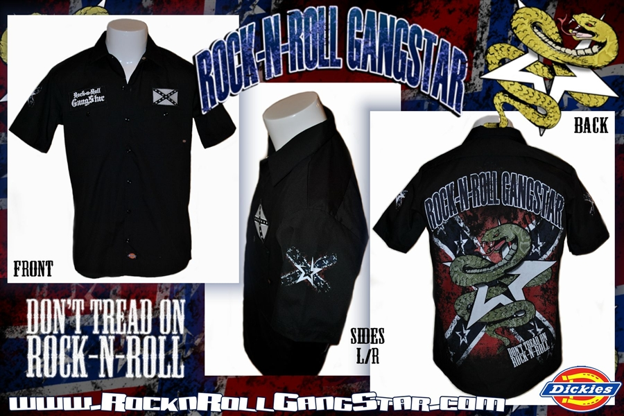Don T Tread On Rock N Roll Dickies Work Shirt Heavy Metal