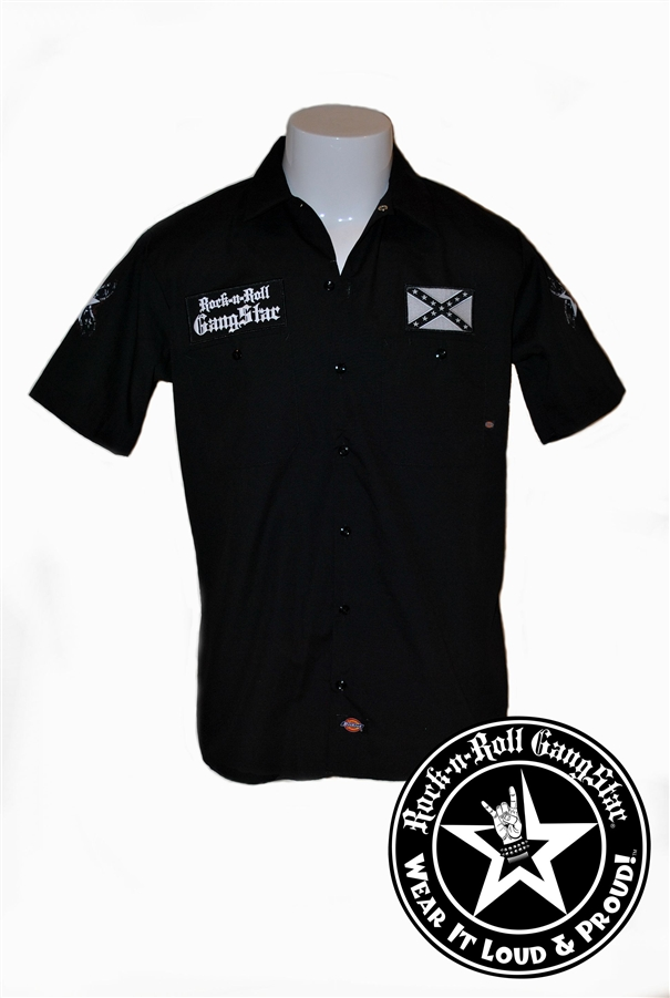 Don Tread Rock Roll Dickies Work Shirt Heavy Metal