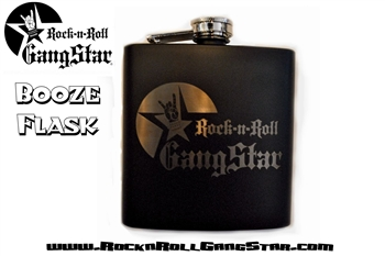 Booze Flask Laser Engraved Rock and Roll Heavy Metal Festival Accessories