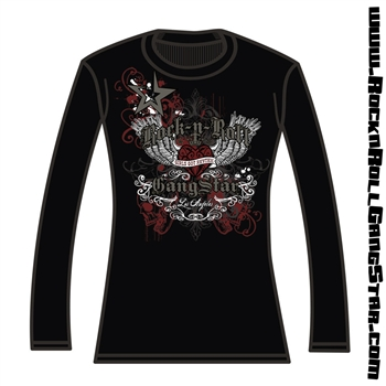 Heart Wings Silver Foil Girls Thermal
