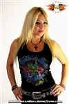 Peace Skull Girls Boy Beater Tank Top Rock Heavy Metal t shirt