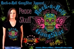 Peace Skull Girls V Neck Jr. T-shirt