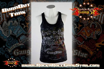 Rock Angel Devil Burnout Tank Top