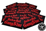 Rock n Roll GangStar embroidered iron on patches red letters Rock n Roll Heavy Metal accessories