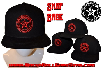 Wear It Loud & Proud! tm Red Logo Snap Back Ball Cap Rock n Roll Heavy Metal Biker clothing accessories Rock-n-Roll GangStar