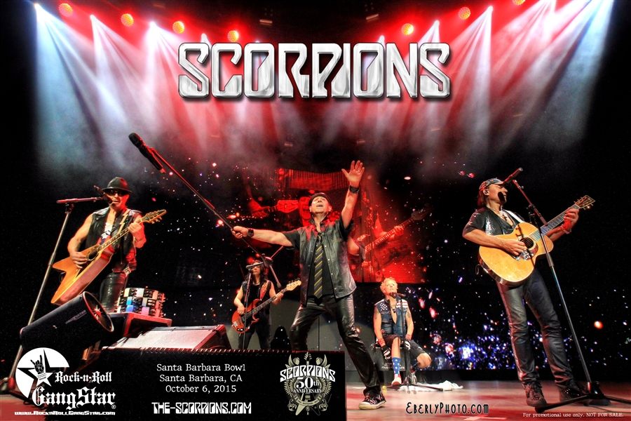 Free Scorpions 50th Anniversary Poster Offer