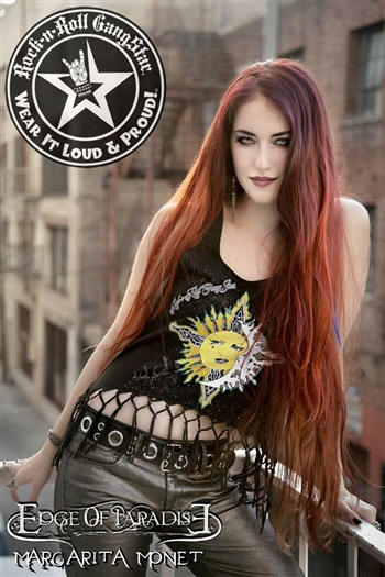 Sun Moon & Stars Fringe Macrame Raw Edge Tank Top Rock n Roll Heavy Metal t shirt