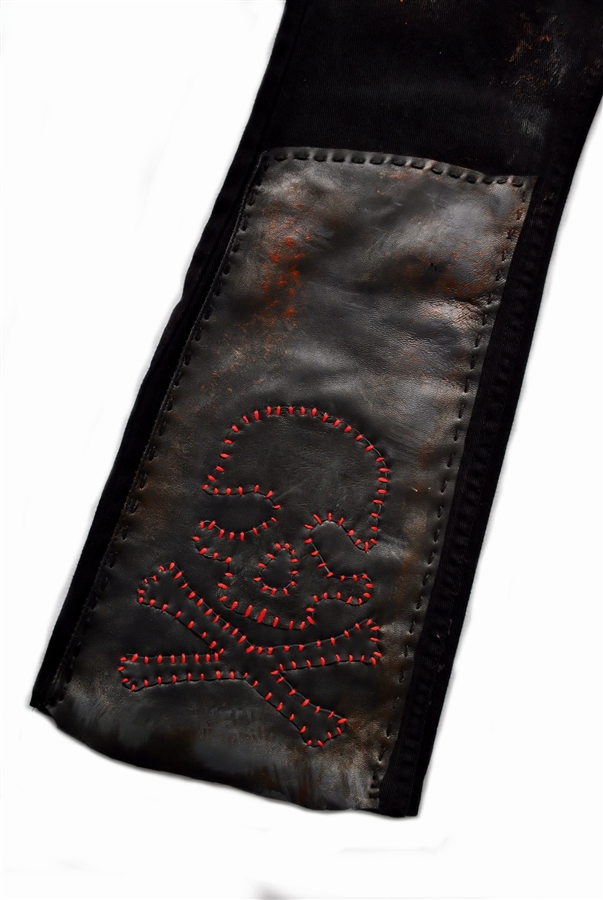 Custom Stage Pants Red Skull With Leather Amp Patch Work