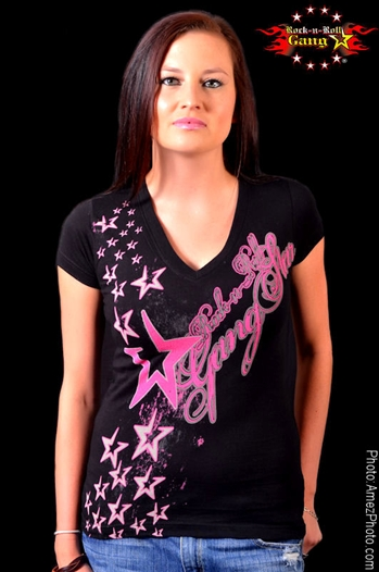 Shooting Stars Girls V Neck Jr. T-shirt