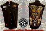 Snakes n Skull denim cut off sleeveless biker shirt Rock n Roll Heavy Metal clothing apparel accessories Rock n Roll GangStar