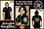 Rebel Emblem If It's Too Loud You're Too Old Dickies Work Shirt Heavy Metal Rock and Roll Clothing