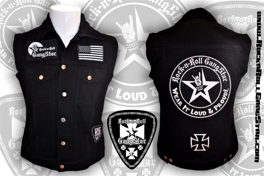 Biker Vest Patches >> Wear It Loud Proud Tm Denim Biker Vest With Custom Patch Work