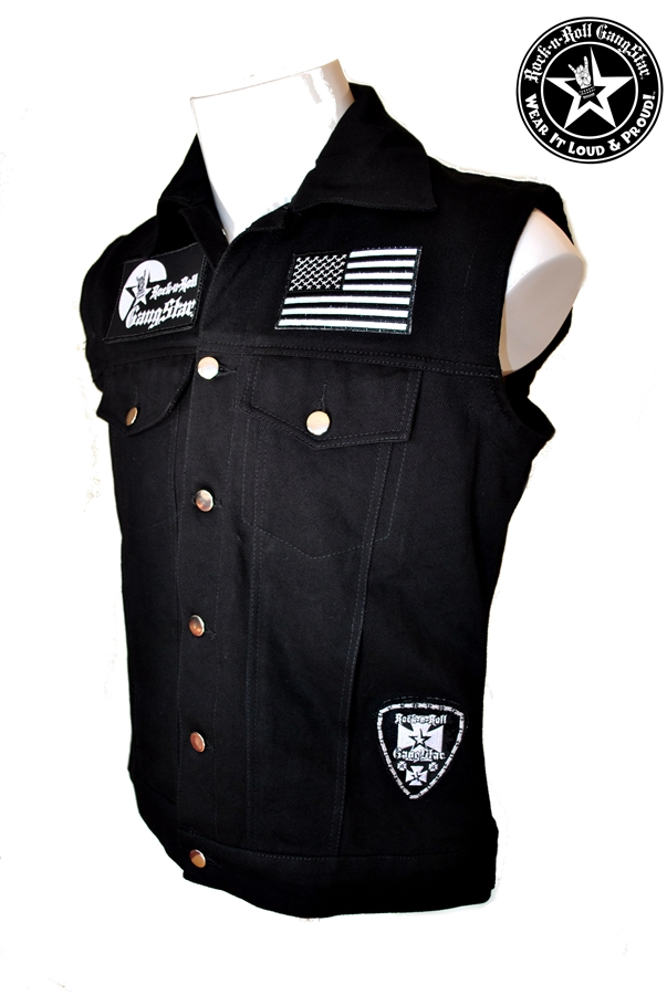 Wear It Loud Amp Proud Tm Denim Biker Vest With Custom