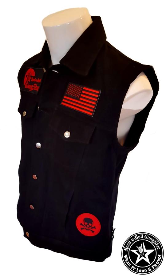 Wear It Loud Amp Proud Tm Denim Biker Vest With Custom