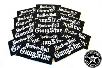 Rock n Roll GangStar embroidered iron on patches white letters Rock n Roll Heavy Metal accessories