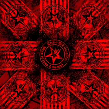 Wear It Loud & Proud! Bandana Red on Black Rock and Roll Heavy Metal Biker accessories lifestyle Rock n Roll GangStar