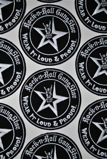Wear It Loud & Proud Patch Rock n Roll GangStar Rock and Roll Heavy Metal