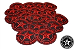 Wear It Loud & Proud embroidered iron on patches red logo Rock n Roll Heavy Metal accessories Rock n Roll GangStar