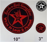 "10"" Wear It Loud & Proud embroidered iron on back patch red logo Rock n Roll Heavy Metal accessories Rock n Roll GangStar"