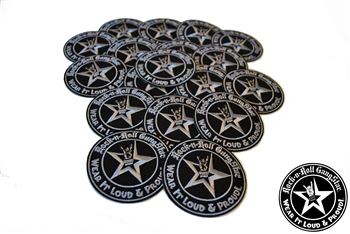 Wear It Loud & Proud embroidered iron on patches silver logo Rock n Roll Heavy Metal accessories Rock n Roll GangStar